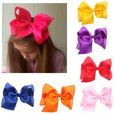 Girls Big Ribbon Hair Bows Boutique Hair Clip Hairpin Baby Hair Accessories Gift