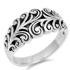 Carved Filigree Ring, 925 Sterling Silver, w FREE Gift Box, Eye Catching, Classy