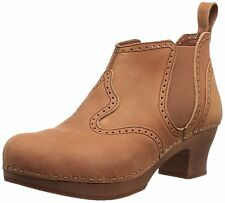 Swedish Hasbeens Women's Victorian Cognac Ankle Boots 6M