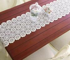 Vintage Guipure Lace Table Runner Christmas Cotton Hollowed Table Runner Decor