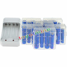12x AA 3000mAh+12x AAA 1800mAh 1.2V NI-MH Rechargeable Battery+6xCase+Charger