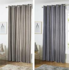LINED CURTAINS - CONTEMPORARY STRIPE CURTAINS EYELET RING TOP CURTAINS