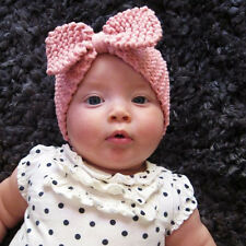 Pop Baby Infant Girl Warm Wrap Hair Band Bowknot Wool Headband Handmade Present