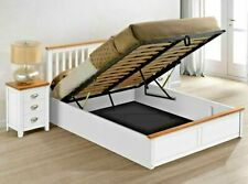 LAVISH NEW EXCLUSIVE WOODEN OTTOMAN STORAGE BED FRAME IN OAK & WHITE FINISH***