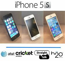 Apple iPhone 5S 16GB 4G LTE iOS AT&T Cricket H2O Straight Talk FREE CASE + MORE!