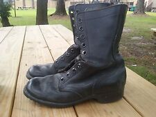 USA military work boots leather black dated 1977 size 6 R ro-search