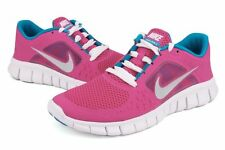 Junior Nike Free Run 3 Girls 512098 602 Pink Silver Turquoise 100% Authentic New