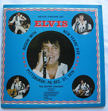 DELUXE 2-RECORDS SET ROCKIN` WITH `` ELVIS`` NEW YEARS` EVE, THE ENTIRE CONCERT