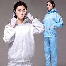 Unisex ESD-Safe Anti-static LAB Smock Clothes Coats together with Trousers & Hat