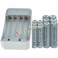 6x AA 3000mAh+6x AAA 1800mAh 1.2V NI-MH GREY Color Rechargeable Battery+Charger