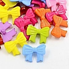Pretty Bow Buttons many colours available Sewing Scrap-booking Crafts