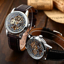 Luxury Men Skeleton Leather Strap Mechanical Automatic Analog Wrist Sport Watch