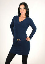 NEW! Womens Ladies V Neck Belted Long Sleeve Jumper