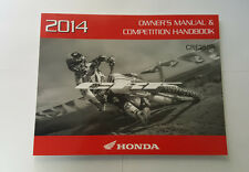 NEW OEM HONDA OWNERS MANUAL AND COMPETITION HANDBOOK CRF250R 2014 CRF 250