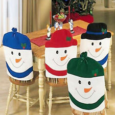 Funny Christmas Snowman Kitchen Chair Covers Family Chair Covers Xmas Decor