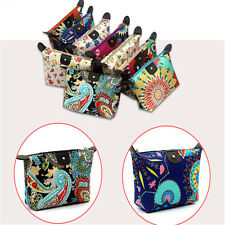 Portable Travel Printed Cosmetic Bag Makeup Toiletry Case Storage Pouch 1pc