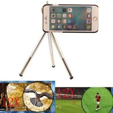 "12X Zoom Telescope Camera Optical LENS+Tripod + Case For Iphone 7 4.7"" 5.5"" Plus"