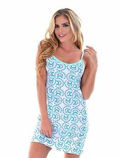 Women's Short Sleep Dress Pajama Nightdress Sleepwear PJS - Mint