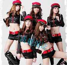 Women Cheerleader Dress Outfit Auto Show Clothing Sexy Police Uniform Costume