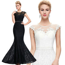 Lace Celebrity Evening Formal Party Cocktail Long Dress Bridesmaid Prom Gown New