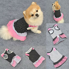 Polka Dots Pet Dog Tutu Dress Lace Skirt Cat Princess Clothes Party Dress XS-L
