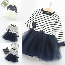 Flower Girls Kids Baby Clothes Princess Party Pageant Wedding Tulle Tutu Dresses