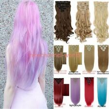 Cosplay Long Real Thick Full Head Clip in Hair Extension 8Pcs 18 clips Halloween