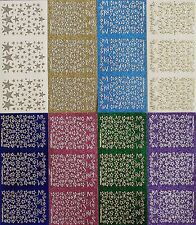SPARKLE Stars Various Sizes Christmas Large Tiny PEEL OFF STICKERS Cardmaking
