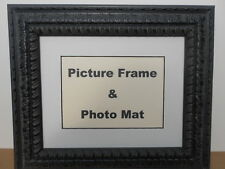 Black Cherry Ornate Picture Frame 8x10 or 11x14 Frame with Photo Mat Included