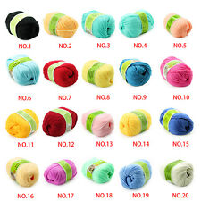Soft Worsted Super Soft Smooth Natural Silk DIY Wool Fiber Baby Yarn 50G