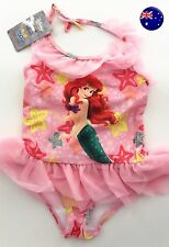 Girl Kid Disney Mermaid Ariel Swimmer Tutu Bather Swimwear Dress UV Protect