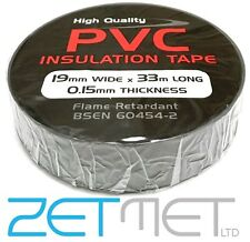 GREY PVC Electrical Insulation / Insulating Tape 19mm x 33m Flame Retardant