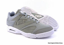 Nike men Air Tech Challenge IV Low tennis shoes sneakers - Wolf Grey / White