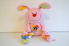 EARLY LEARNING CENTRE BLOSSOM FARM RABBIT ACTIVITY SOFT TOY