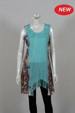 BNWT WHISPERS SLVLESS TUNIC AQUA SIZE S/12 to XXL/20