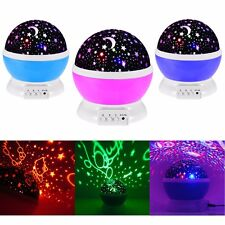Night Light for Children Novelty Galaxy Cosmos Star Moon Sky Projector Idea Gift