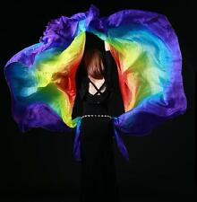 New 2016 Colorful Belly Dancing Costumes Veil Scarf Shawl 1Pair Silk Semi-circle