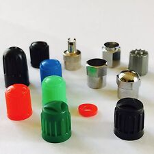 AIR SEAL BIKE CYCLE TYRE VALVE ALLOY WHEEL DUST CAP COVERS 9 TYPES BUY 2 TO 50