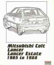 Pocket Workshop Manual Mitsubishi Colt Lancer 1985-1988 Service Repair Estate