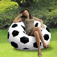 NEW STYLE COMFORT QUEST INFLATABLE SOFA SEAT CHAIR FOOTBALL BASKETBALL COUCH