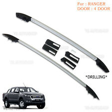 Aluminum Real Roof Rack Bar Fit Ford Ranger T6 Mk2 Xlt Px Ute Wildtrak 4Dr 12-16