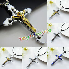 Stainless Steel Catholic Crucifix Jesus Cross Pendant Necklace