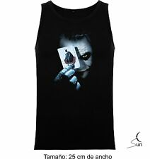 T-SHIRT WITHOUT SLEEVES JOKER BATMAN DARK KNIGHT COMIC DC T-SHIRT TOP SIL CCb011
