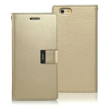 Genuine MERCURY Goospery Rich Diary Gold Case Wallet Cover For iPhone 6/6s Plus