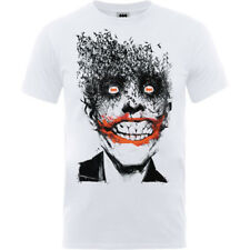 The Joker Face Of Bats White Mens T Shirt Batman Suicide Squad Comics Official