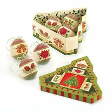 SMRT-10016078-Classic Frosted Christmas Ornament Set w/ Decorative Tree Shaped