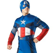 Adult Captain America USA Hero Costume Marvel Superhero Party Outfit & Mask