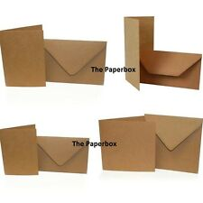 Recycled Kraft Card Blanks & Envelopes, double sided, DIY weddings