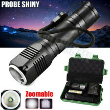 Zoomable 3 Mode CREE XML Q5 LED 18650 Flashlight Torch Camping Lamp Light Case