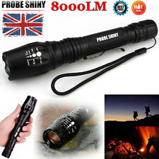 8000LM Zoomable Tactical 5 Modes CREE XML T6 LED 18650 Flashlight Torch Light US